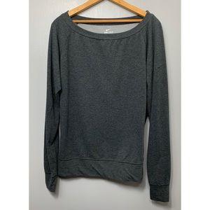 NIKE Gray Pullover Crewneck Sweatshirt
